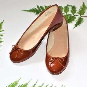 J.CREW Brown  Patent Leather Flats